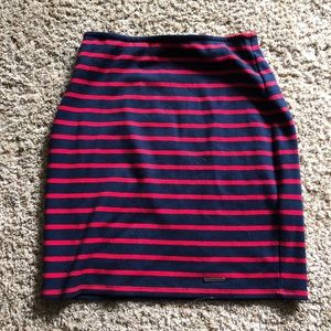 Abercrombie and Fitch Red Blue Stripe Mini Skirt